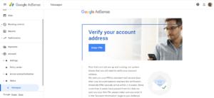 AdSense - Verify your address